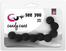 Анальная цепочка See You Candy Cane Anal Beads, черная