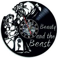 Настенные часы из виниловых пластинок LikeMark The beauty and the Beast