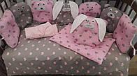 Детский постельный комплект Лесные звери 6 предметов