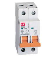 Модульний автоматичний вимикач LS, BKN-c, 2 полюсa, 1А-63А, крива C, 6kA