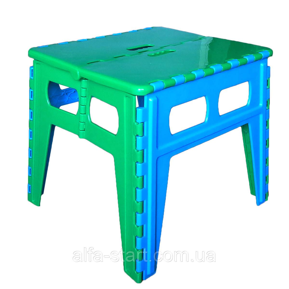 Пластиковый большой раскладной стул табурет до 100кг