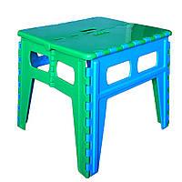 Пластиковый большой раскладной стул табурет для полного человека до 200кг