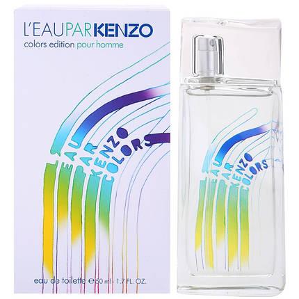 Чоловіча туалетна вода Leau Par Kenzo Colors Edition Pour Homme 100 ml не оригінал, фото 2
