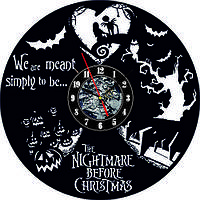 Настенные часы из виниловых пластинок LikeMark The nightmare before christmas 6