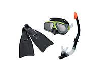 Набор для плавания Трубка, маска и ласты Intex 55959, от 8 лет