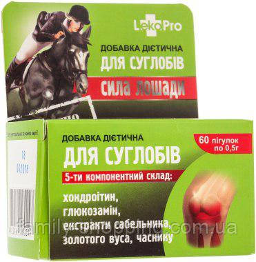 Дієтична добавка Сила Коня Для суглобів, 60 капсул