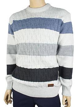 Вязанный мужской свитер Expand (круглое горло) 7030 Н