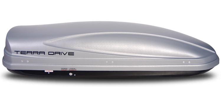 Автомобильный бокс Terra Drive 480 серый двухсторонний