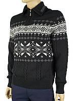 Вязанный свитер мужской DLN (на молнии) 0620 Н
