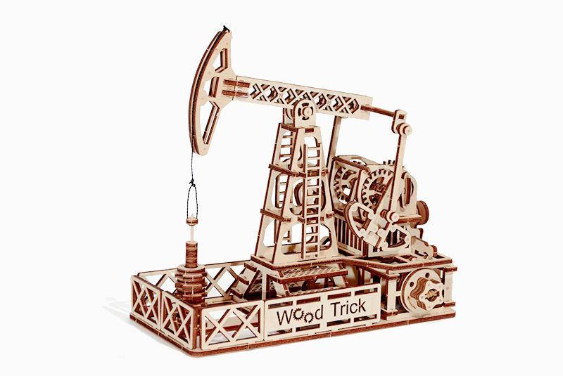 Wood Trick механический 3D пазл Нефтяная вышка (120 деталей)