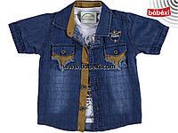Джинсовая рубашка + футболка для мальчика 9 лет