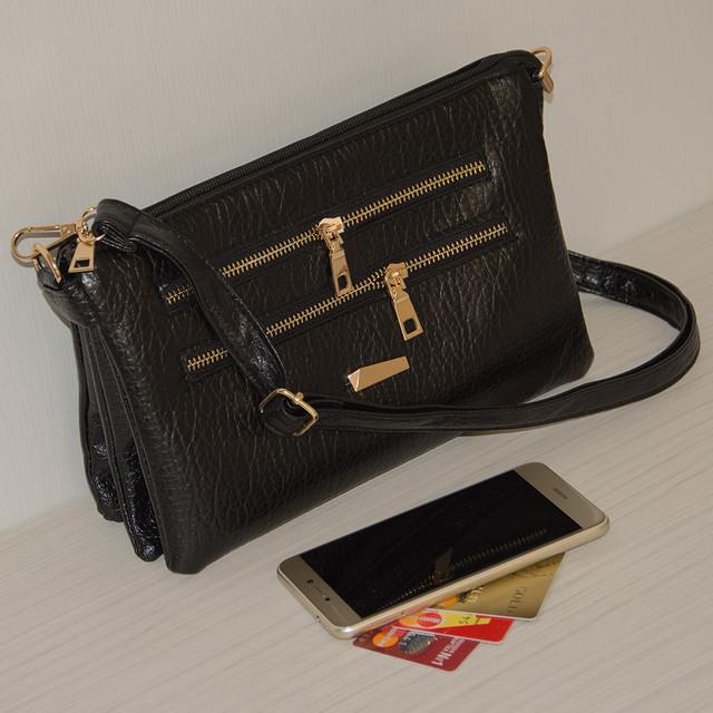 женская сумка черная через плечо