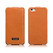 Чехол двухсторонний флип для iPhone5/5S iCarer Luxury ICarer, Оранжевый