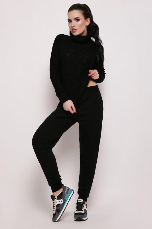 Вязаный костюм NIKA черный(42-46)