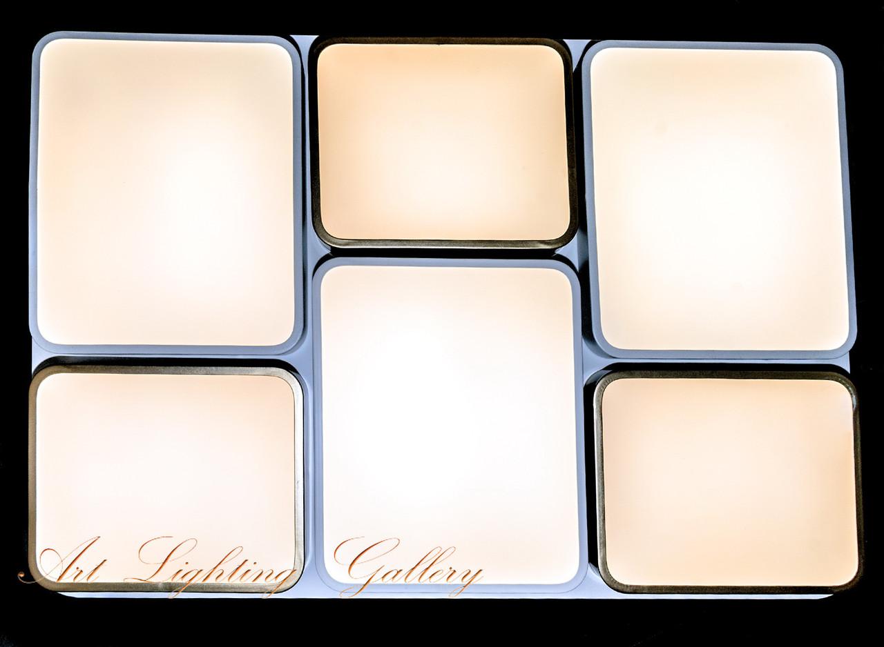 Прямоугольная светодиодная потолочная люстра 9151