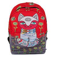 Молодежный оригинальный рюкзак Cool Cat (красный), фото 1