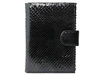 Кошелёк мужской из кожи питона Портмоне из кожи питона (PTP 006 Black)