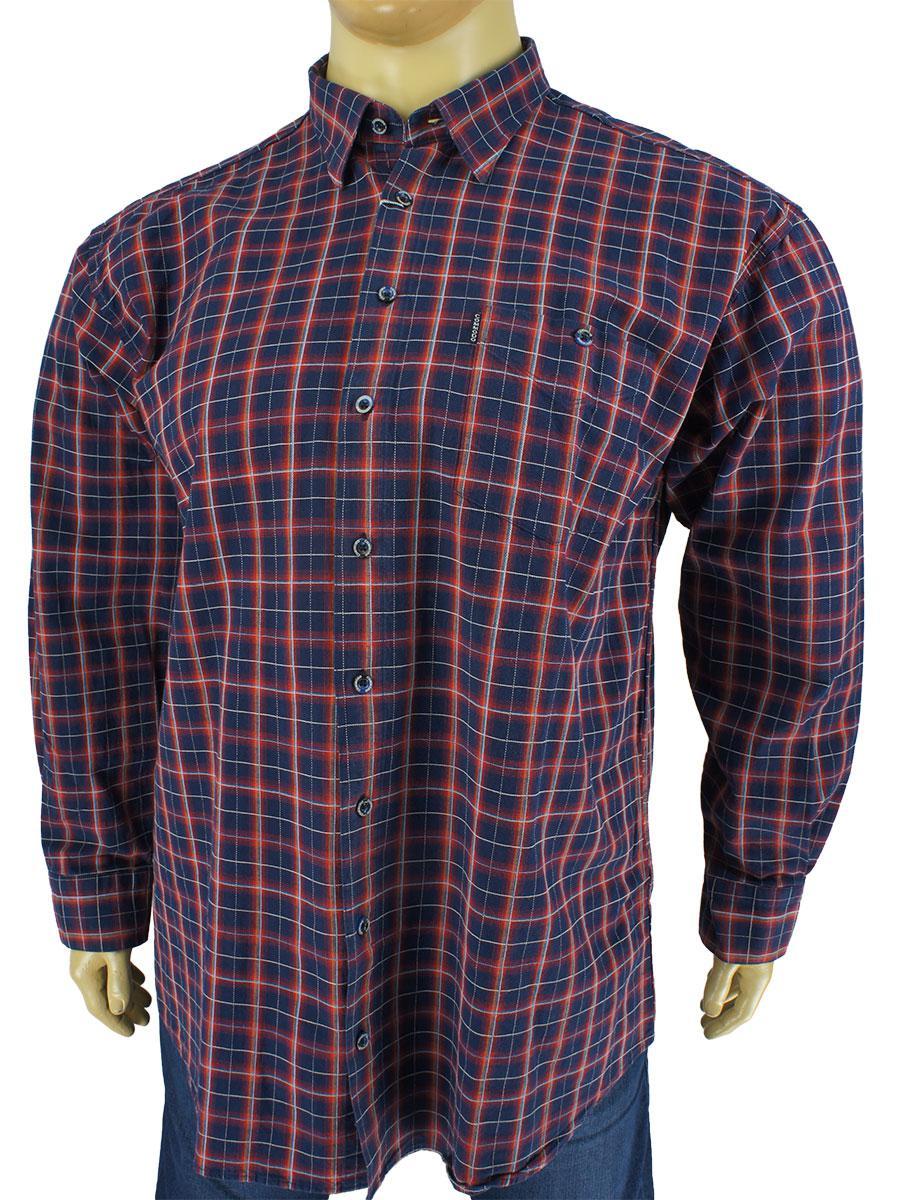 63521884e63 Мужская рубашка Commodo 0340 B indigo большого размера - Магазин мужской  одежды
