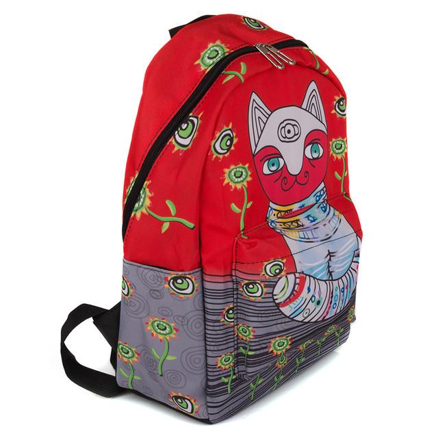 городской рюкзак красный