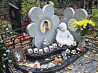 Памятник Цветы с ангелом № 24
