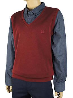 Мужской свитер-обманка Off 22043 большого размера
