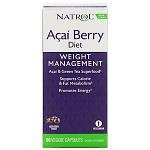 Natrol, AcaiBerry Diet, суперпродукты асаи и зеленый чай, 60 вегетарианских капсул