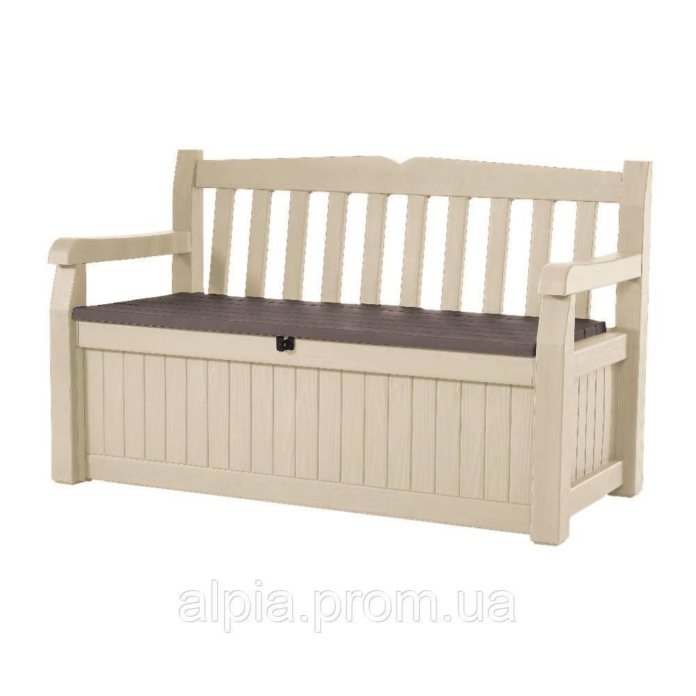 Садовая скамейка со встроенным ящиком для хранения Keter Eden Bench 265 л