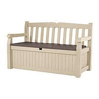 Садовая скамейка со встроенным ящиком для хранения Keter Eden Bench 265 л, фото 1