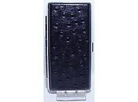 PR7-47 Портсигар без зажигалки под длинные сигареты, Стильный портсигар, Портсигар для тонких сигарет