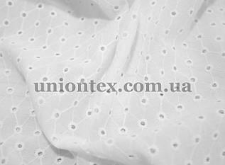 Батист с вышивкой белый