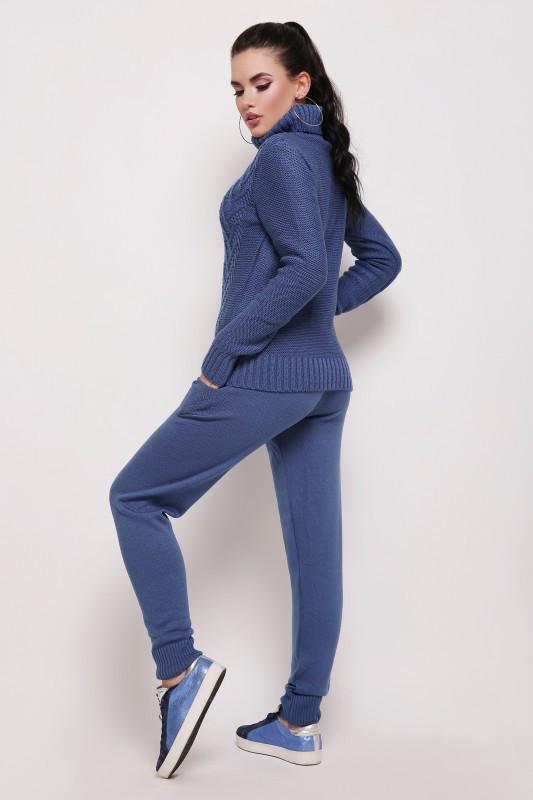 Вязаный костюм NIKA джинс(42-46)