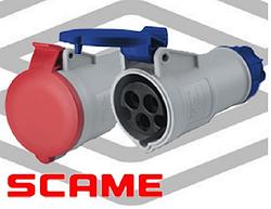 Кабельные розетки серии IEC309 Scame (Италия)