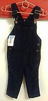 Вельветовые брюки-комбинезон для мальчика синие Impidimpi р.74|80