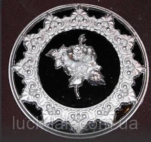 """Гипсовый декор, орнамент """"Роза"""", двухцветная, диаметр 18 см."""