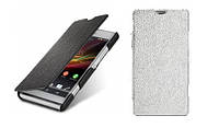 Чехол для Sony Xperia E Dual C1505/C1605 - Melkco Book leather case, разные цвета