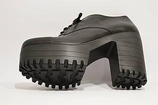 Ботинки кожаные на платформе с каблуком Guero 3009, фото 3