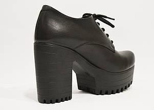 Ботинки кожаные на платформе с каблуком Guero 3009, фото 2
