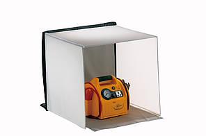 Переносная световая палатка 40 x 40 x 40 см + 4 фона (белый, красный, синий, черный)