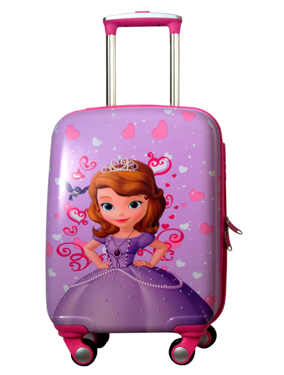 Детский чемодан на колесах для девочки