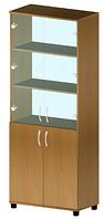 Шкаф файловый со стеклом В-183