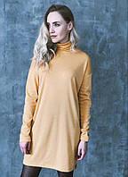Желтое платье гольф мини 0121