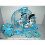 Раздвижные роликовые коньки + шлем + наколенники (Ролики 129 C-S) Набор роликов.