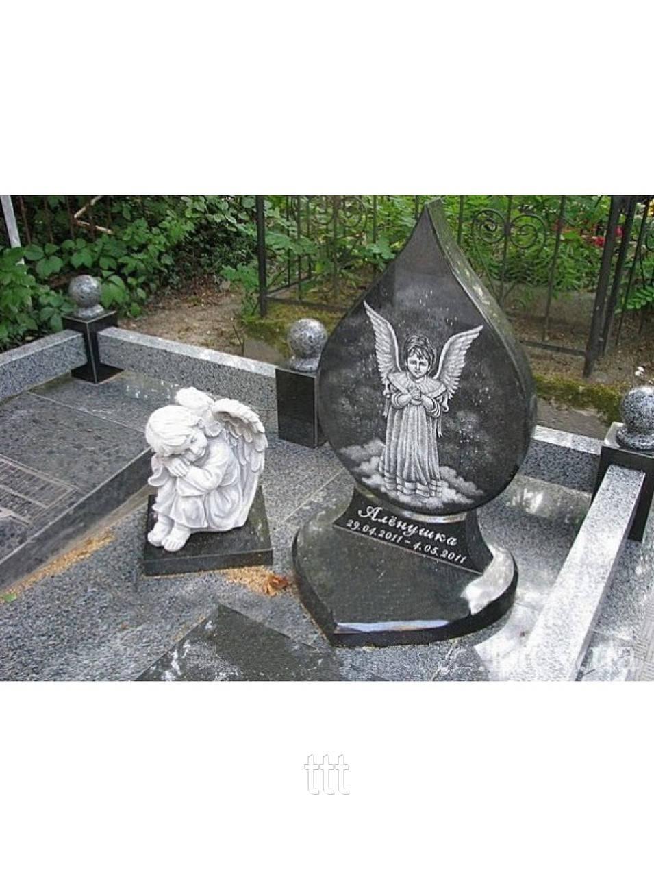 Детское надгробие  с ангелочком № 25