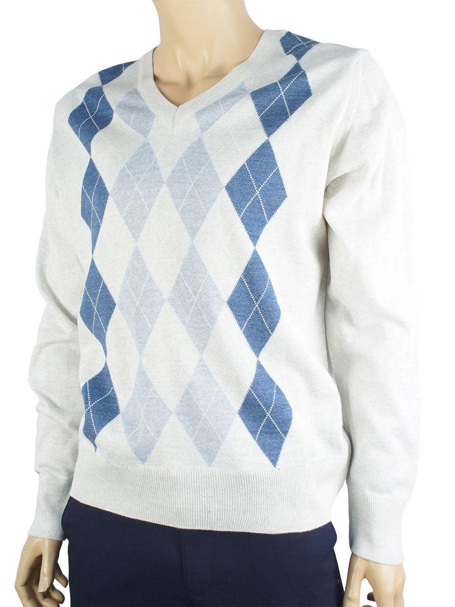 Мужской свитер Wool Yurt 0395 Н с горловиной мысом в разных цветах размер М
