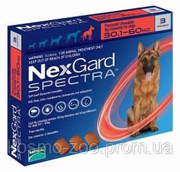 Таблетка от клещей, блох и глистов Нексгард Спектра (NexGard Spectra) для собак 30-60 кг (XL), 3 табл. в уп.