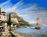 Рисование по номерам Итальянская бухта (VP851) 40 х 50 см