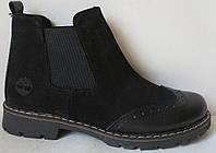Женские ботинки в стиле Timberland 2018! челси оксфорд черный замш кожа Тимберланд