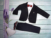 Стильный костюм тройка для мальчика Турция  р.1,2,3