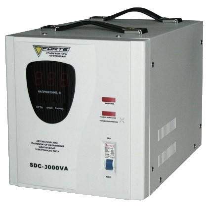 Стабилизатор напряжения Forte SDC-3000VA, фото 2