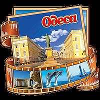 Двухслойный цветной магнит на холодильник Одесса.